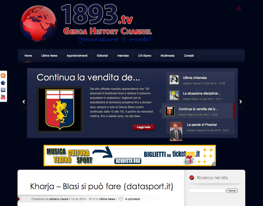 www.1893.tv | Genoa History Channel